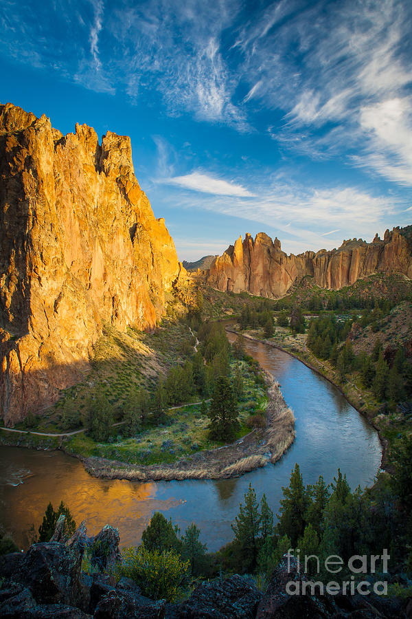 Smith Rock River Bend Photograph
