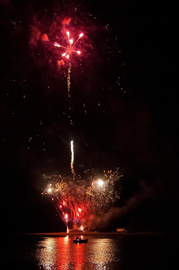 Fireworks Photograph - Smoke On The Water by LA Beaulieu