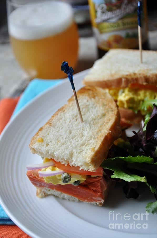 Salmon Photograph - Smoked Salmon And Capered Egg Salad by Maureen ...