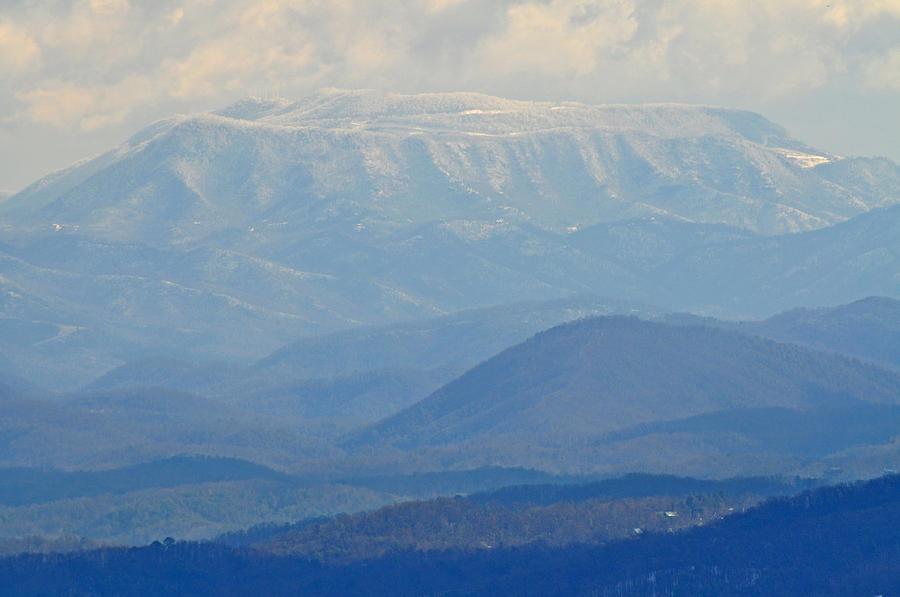 Smokey Mountains Photograph - Smokey Blue Flat Top by Peter  McIntosh