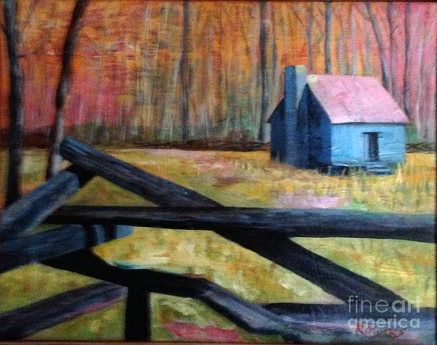 Smokey Mounain Cabin Painting  - Smokey Mounain Cabin Fine Art Print
