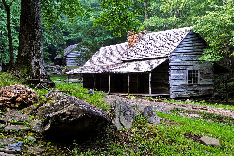 Smoky Mountain Cottage Photograph  - Smoky Mountain Cottage Fine Art Print