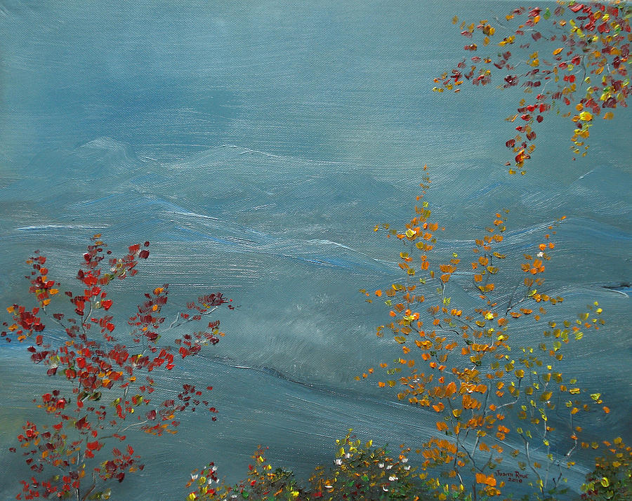 Smoky Mountains In Autumn Painting  - Smoky Mountains In Autumn Fine Art Print