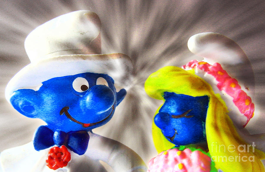Smurf Wedding Photograph