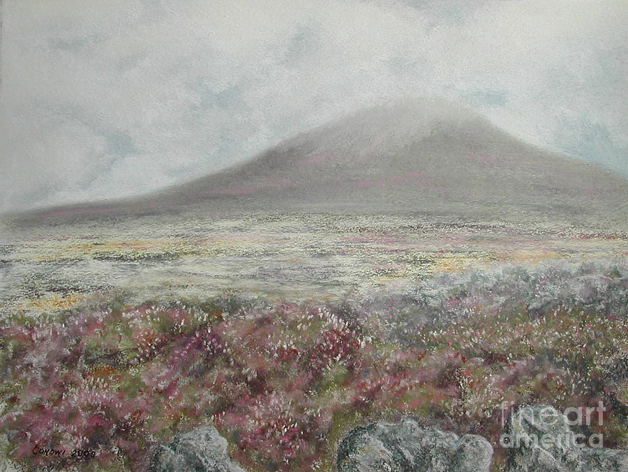 Snaefell Heather Painting  - Snaefell Heather Fine Art Print