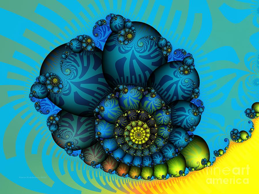 Snail Mail-fractal Art Digital Art