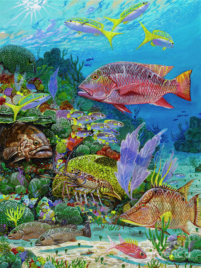 Snapper Reef Re0028 Painting  - Snapper Reef Re0028 Fine Art Print