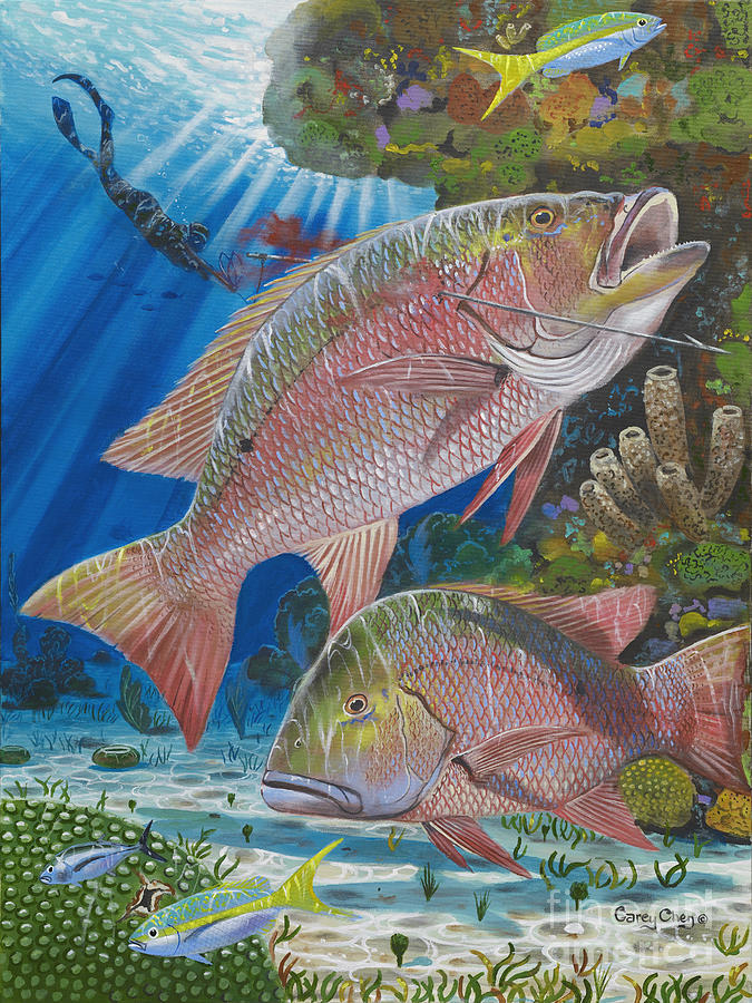 Snapper Spear Painting