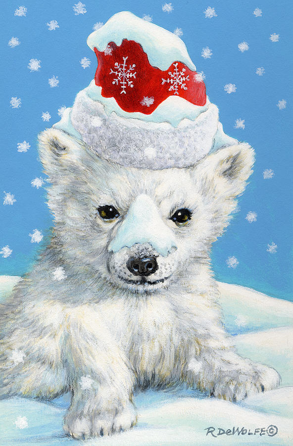 Sno-bear Painting  - Sno-bear Fine Art Print