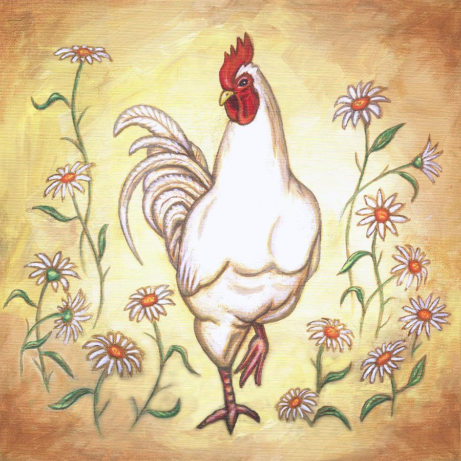 Rooster Painting - Snooty The Rooster Two by Linda Mears