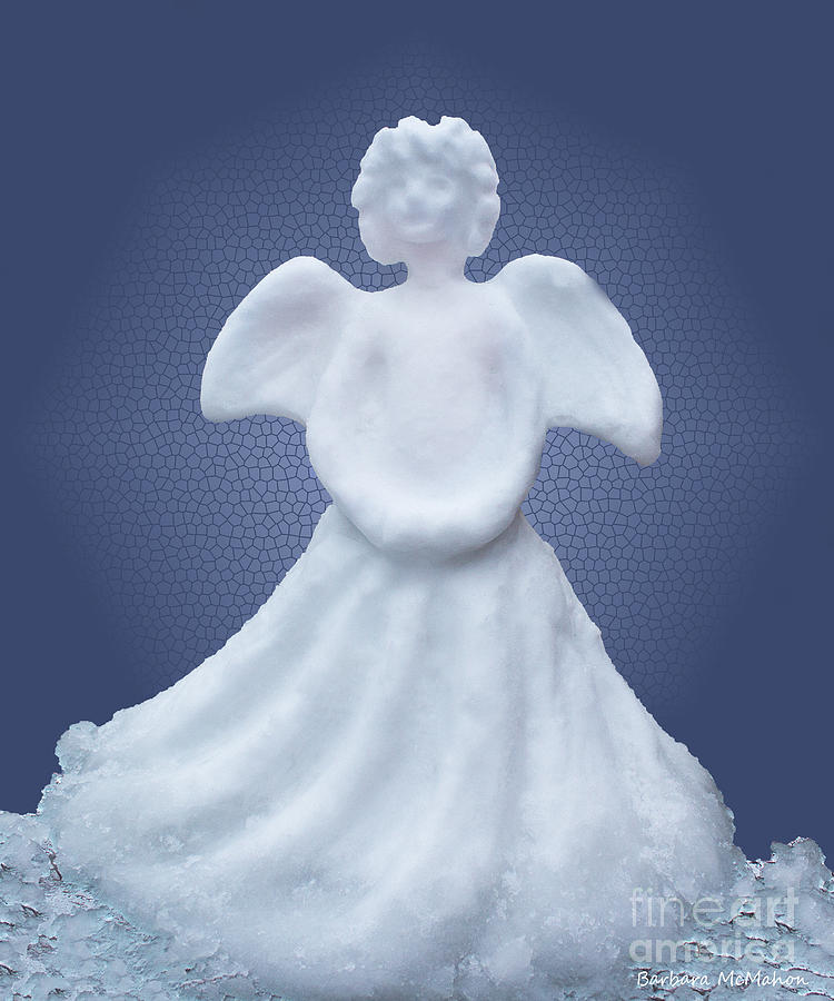 Angel Sculpture - Snow Angel by Barbara McMahon