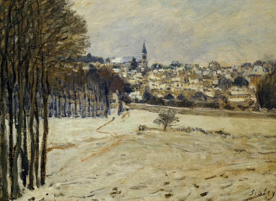 Snow At Marly-le-roi Painting
