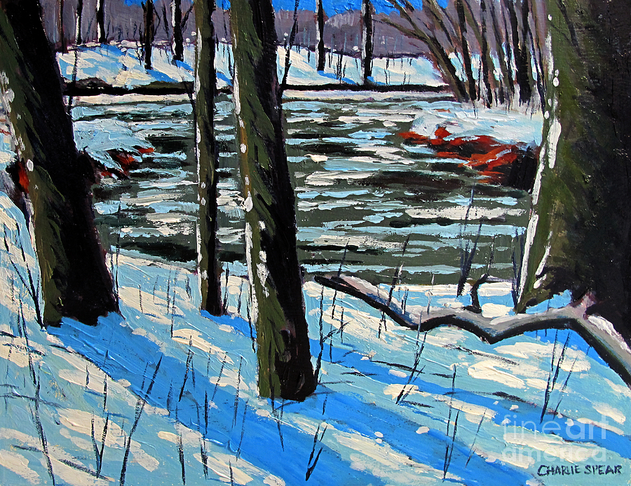 Landscape Painting - Snow Back On The Eel by Charlie Spear