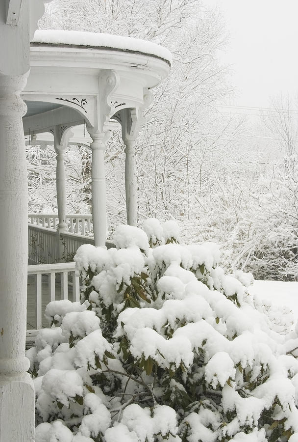 Snow Covered Porch Photograph