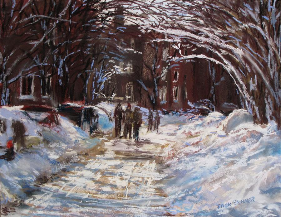 Snow In The City Painting