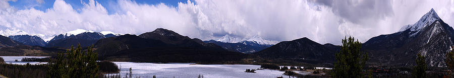 Snow Lake And Mountains Photograph