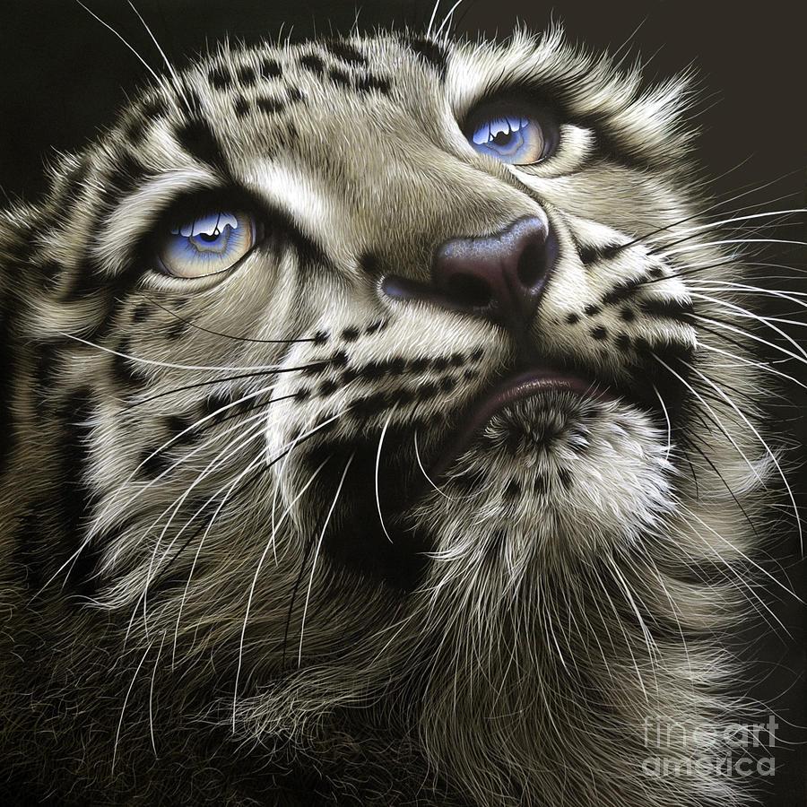 Snow Leopard Cub Painting