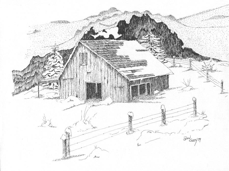Snow On Roof Drawing