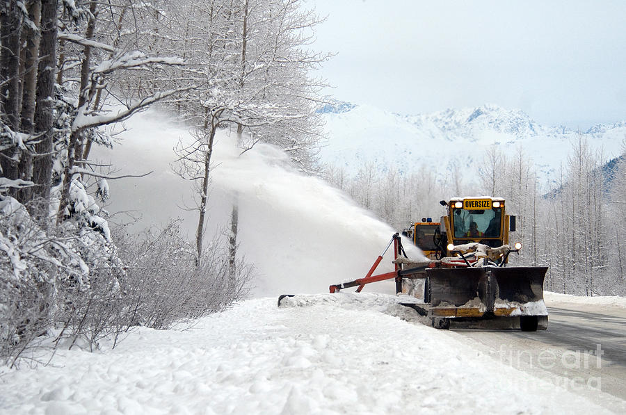 Snow Plow Photograph