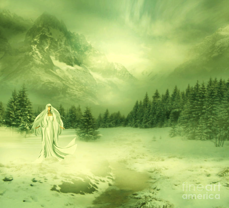 Snow Queen Digital Art  - Snow Queen Fine Art Print