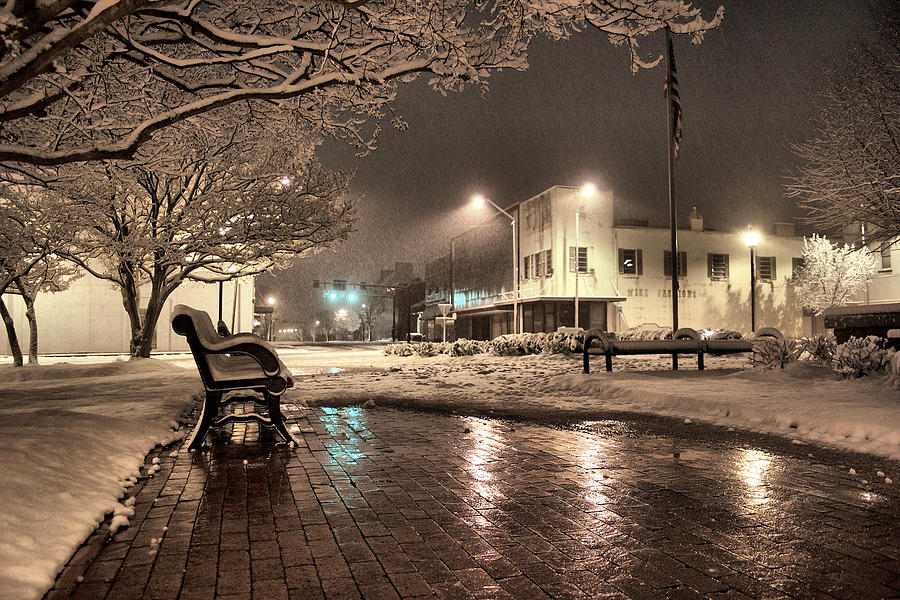 Snow Square - Color Photograph by Jimmy McDonald