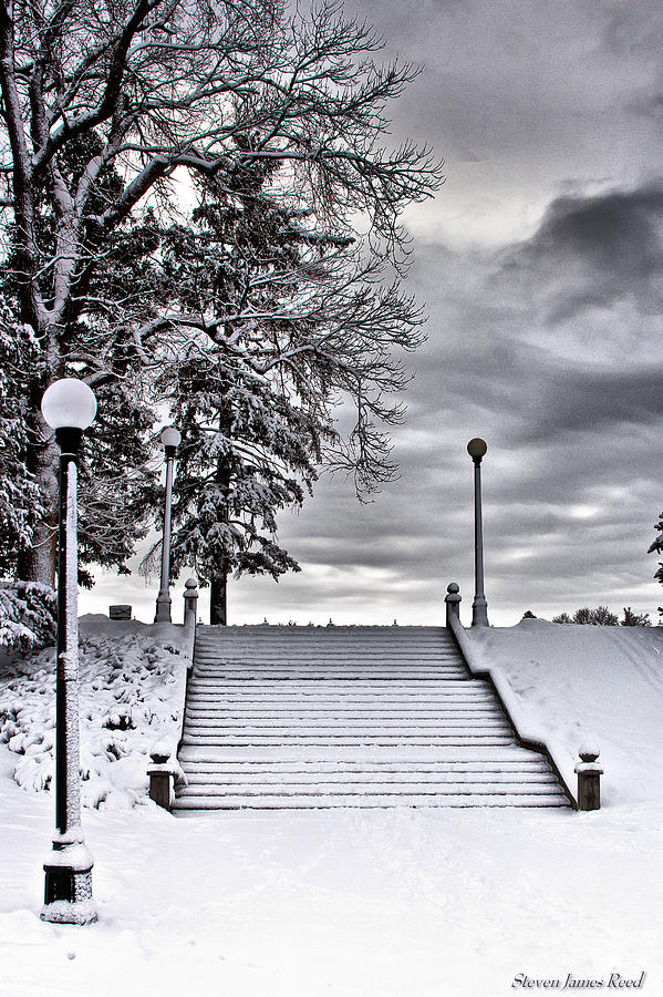 Snow Stairs Photograph  - Snow Stairs Fine Art Print