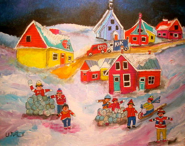 Snowball Accident Montreal Memories Painting