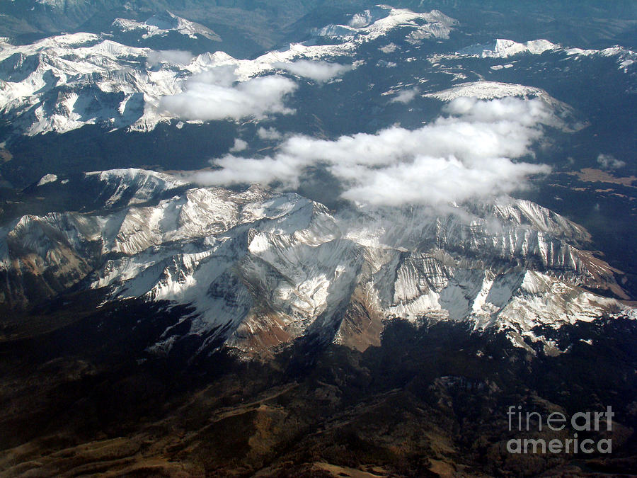American West Photograph - Snowcapped Mountains by Eva Kato