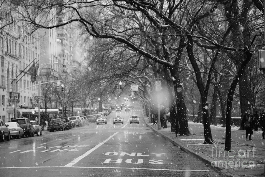 Snowy Afternoon On Fifth Avenue Photograph