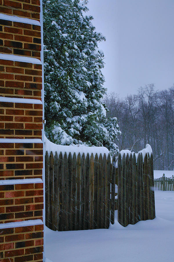 Snowy Corner Photograph  - Snowy Corner Fine Art Print
