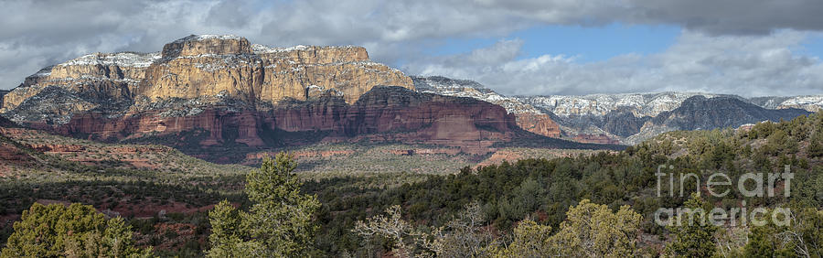 Snowy Day In Sedona Photograph
