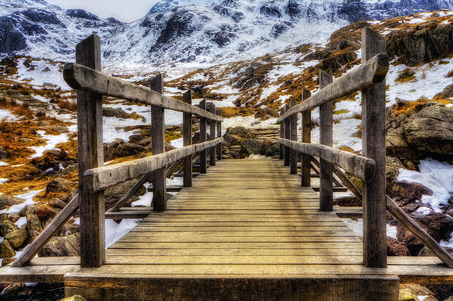 Snowy Footbridge Photograph  - Snowy Footbridge Fine Art Print