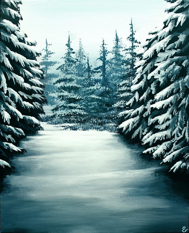 Snowy Path Painting