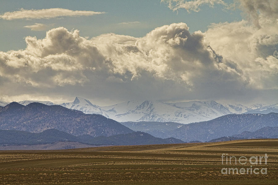 Snowy Rocky Mountains County View Photograph