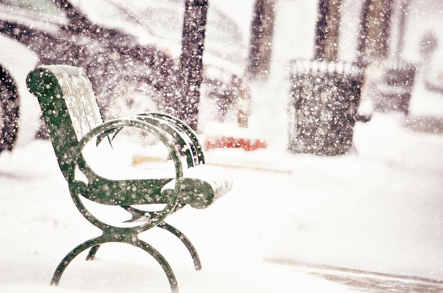 Snowy Seat Photograph