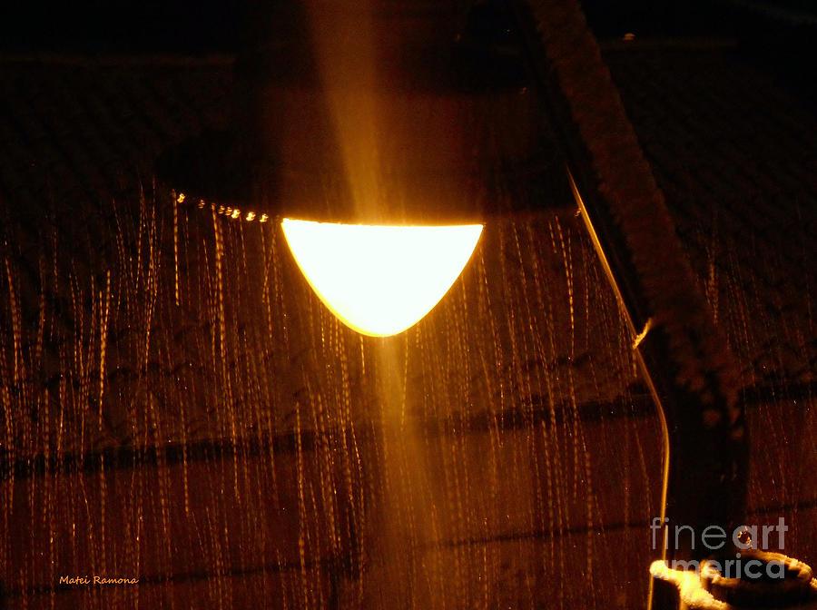 Snowy Street Lamp Photograph