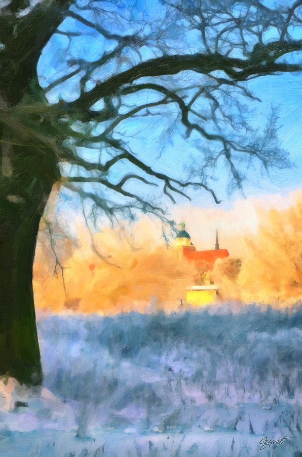 Snowy View Painting