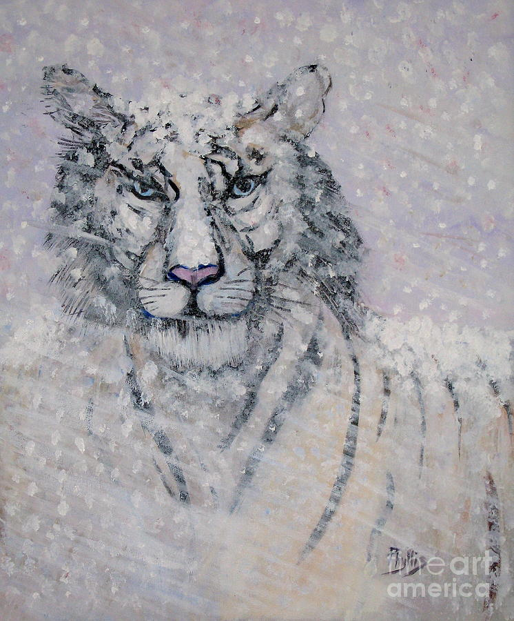 Snowy White Tiger Or Chairman Of The Board Painting
