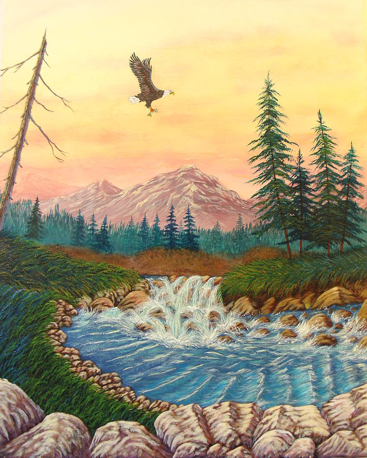 Soaring Into Dawn Painting  - Soaring Into Dawn Fine Art Print