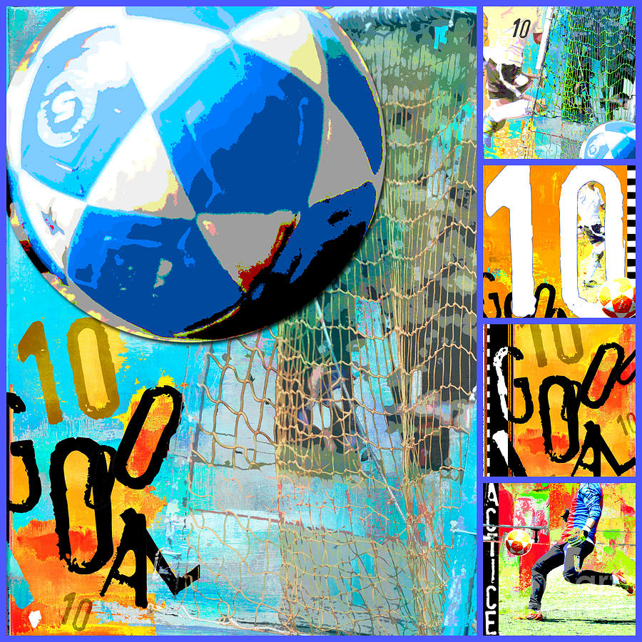 Soccer Collage Mixed Media