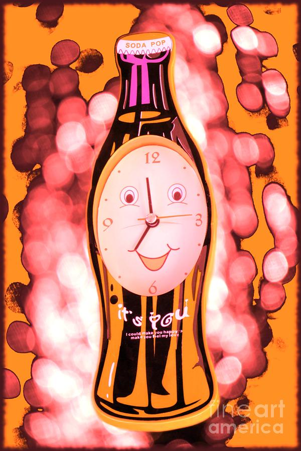 Soda Pop Clock Photograph  - Soda Pop Clock Fine Art Print