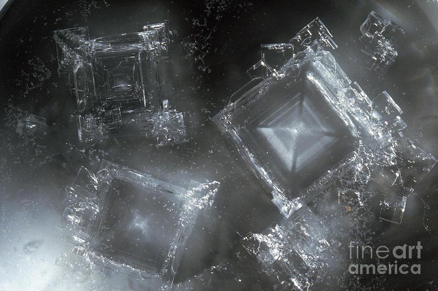Sodium Hydroxide Crystals Photograph