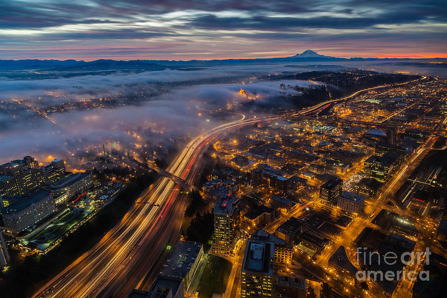 Sodo Sunrise Seattle Morning Photograph  - Sodo Sunrise Seattle Morning Fine Art Print