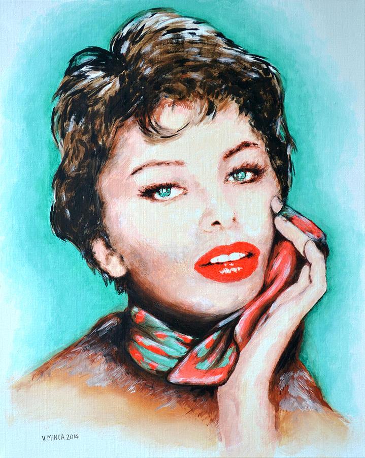 Sofia Loren Painting