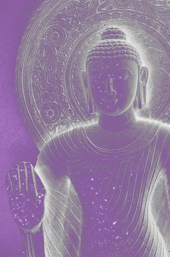 Soft Glow Purple Buddha Photograph
