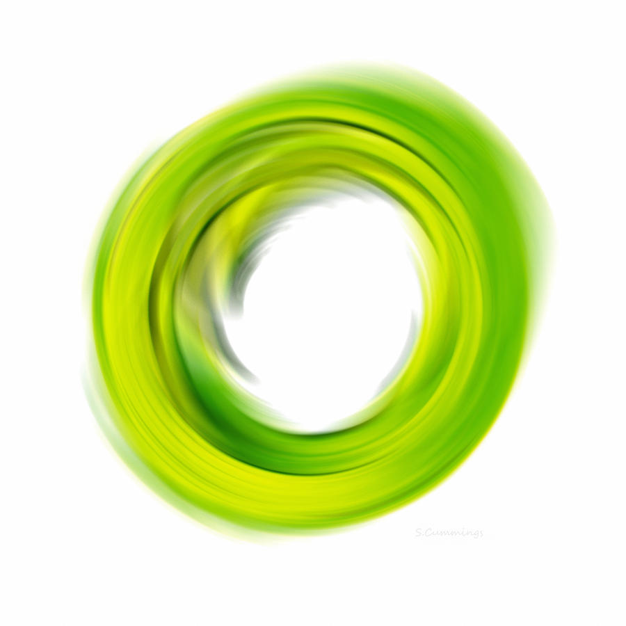 Soft Green Enso - Abstract Art By Sharon Cummings Painting