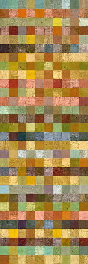 Soft Palette Rustic Wood Series Collage Ll Painting