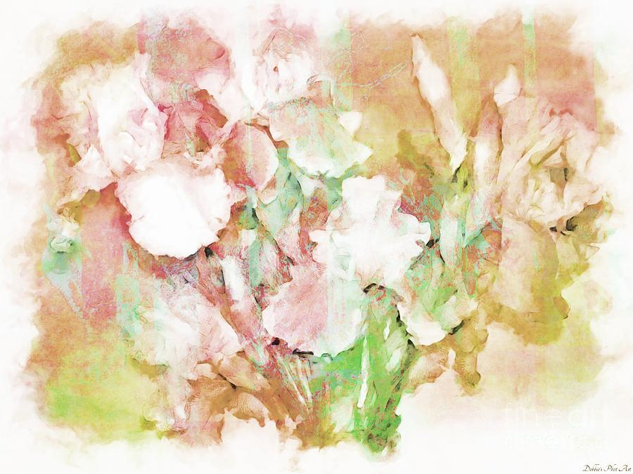 Soft Pink Iris Photo Art Digital Art