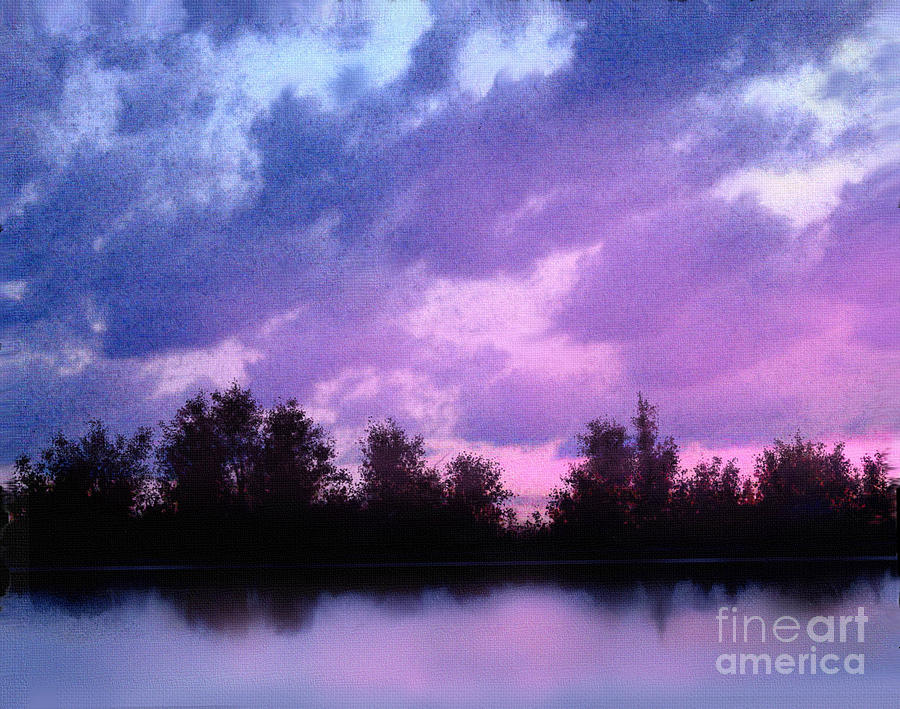 Soft Waters Painting  - Soft Waters Fine Art Print
