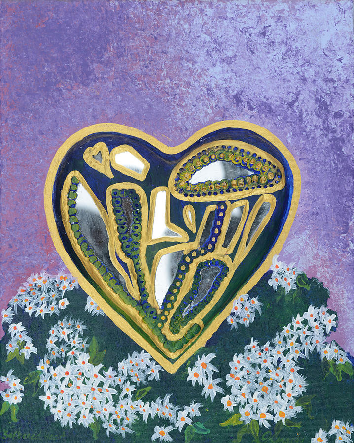 Softened Heart Painting - Softened Heart Best Reflections Energy Collection by Catt Kyriacou